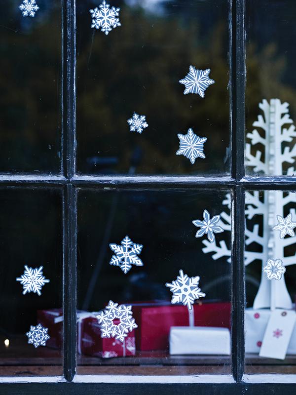 Snowflake window stickers