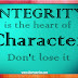 When Character meets Integrity