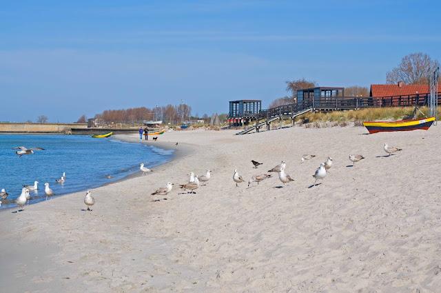 Hel początek Polski, plaże, mewy, morze