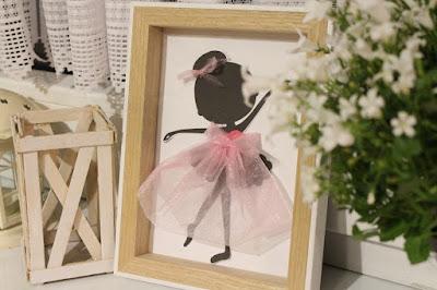 obrazek baletnicy w ramce