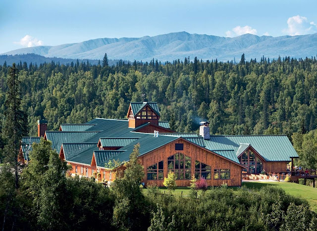 Mt. McKinley Princess Wilderness Lodge - featuring enormous floor-to-ceiling windows that look out upon majestic Mt. McKinley and the Alaska Range.