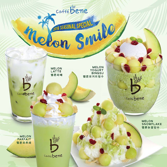 Caffe Bene Melon Smile Promotion