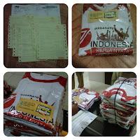 Terimakasih Atas Pesanan Kaos: HUT Ke-71 Indonesia Merdeka