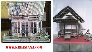 Miniatur Bangunan dari Koran Bekas