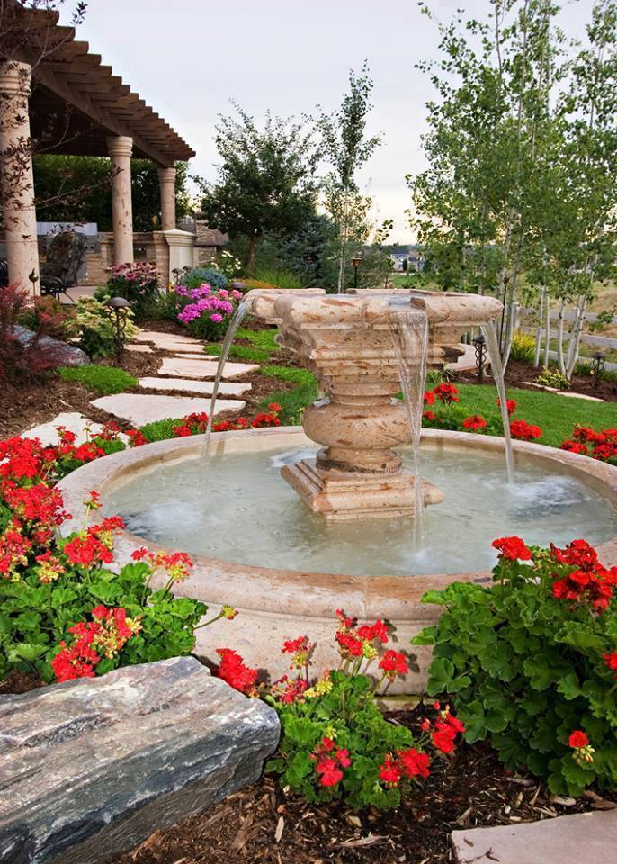 Front yard walkways landscaping ideas 2016 that will Water fountain landscaping ideas