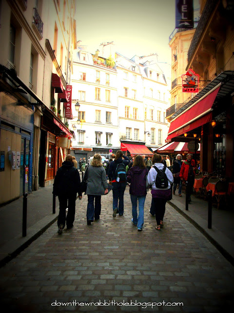 Saint Michel district Paris, Paris city walk