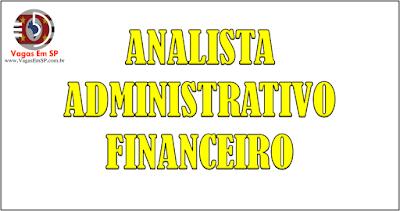 ANALISTA ADMINISTRATIVO FINANCEIRO