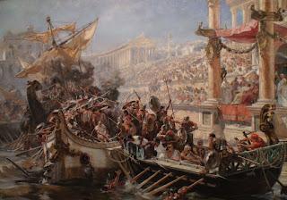 le naumachie, battaglie navali romane. riassunto per la scuola