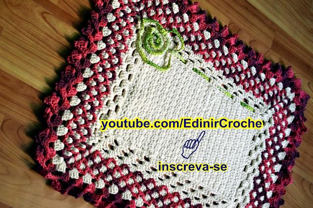 Edinir Croche ensin tapete em croche textura