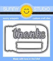 Sunny Studio Stamps: Introducing Vintage Jar with Thanks Die Set releasing January 2016