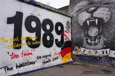 Muro de Berlín en la East Side Gallery en Mühlenstrasse