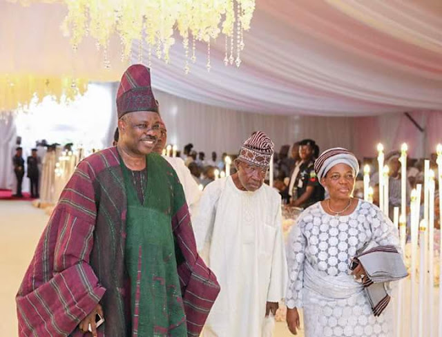Ogun State Governor Amusun gives daughter's hand in marriage to Dabiri