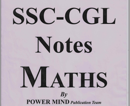 Download CGL Mathematics Hand Written PDF Class Notes by