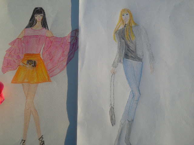 Inspired by @tijanabejita (fashion drawing  of the day)