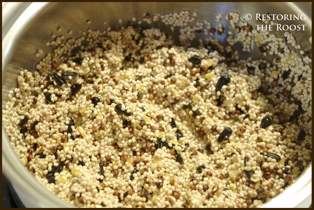 Heart Bird Seed Cake Recipe