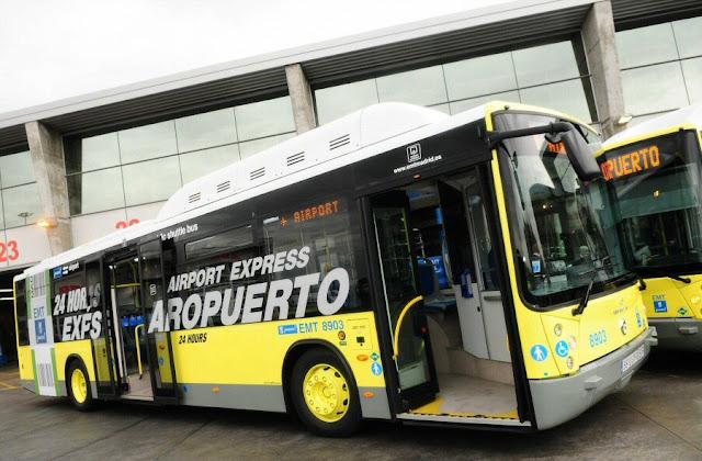 Ônibus do aeroporto até o centro de Madri