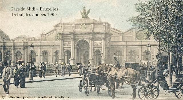 Ancienne Gare du Midi - Bruxelles disparu -  Fin du XIXe siècle - Début des années 1900 - Bruxelles-Bruxellons