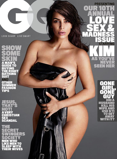 kim kardashian topless photo shoot gq magazine cover