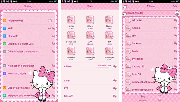 Oppo Theme: Oppo Hello Kitty Pink Lady Theme
