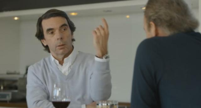 """Aznar a Bertín: """"Si gobernara Pablo Iglesias, tú y yo estaríamos en la cárcel"""""""
