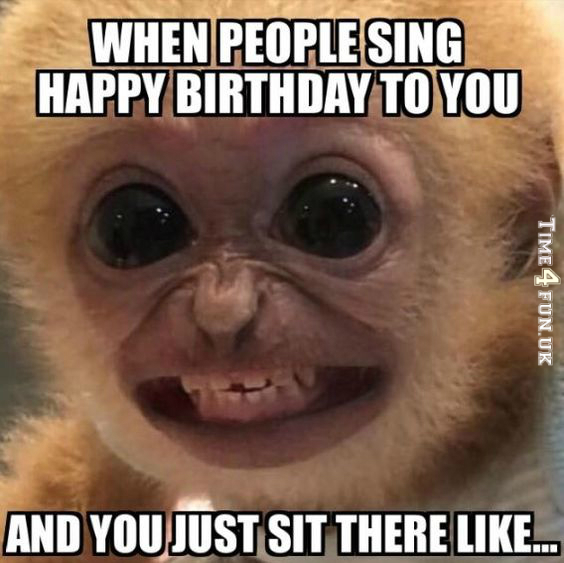 Funny meme about birthday