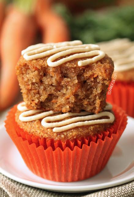 Healthier Carrot Cake Cupcakes (paleo option, grain-free, gluten-free)