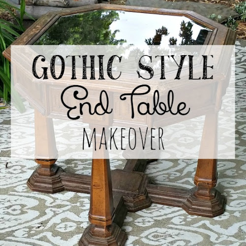 1970's Gothic Style End Table Makeover