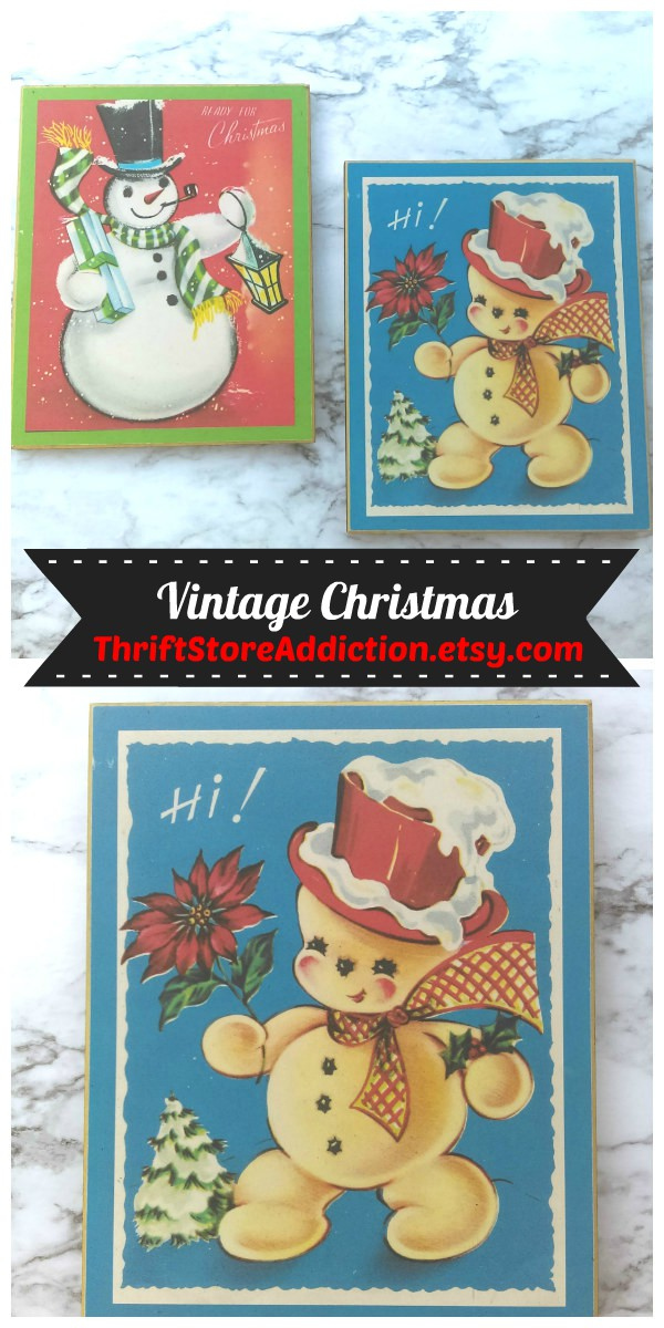 Vintage Christmas finds available at Etsy Thrift Store Addiction