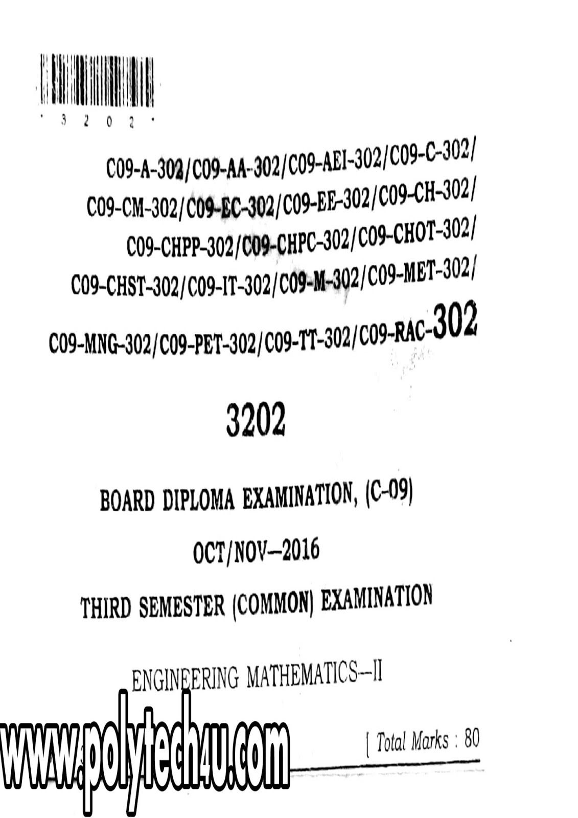 DIPLOMA M2 PREVIOUS QUESTION PAPERS SBTET AP C-09 DME OCT
