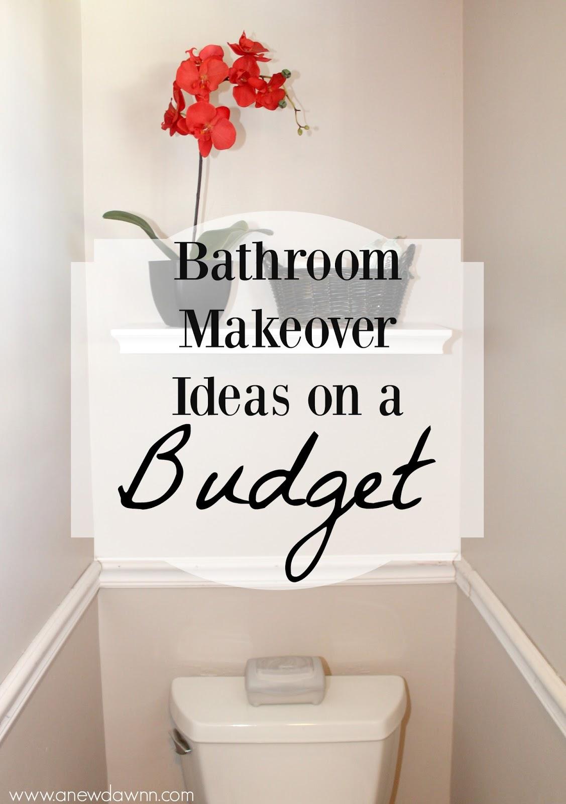 Bathroom Makeover Ideas on a Budget - A New Dawnn on Bathroom Ideas On A Budget  id=13187
