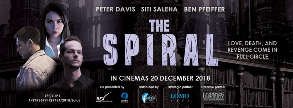 Movie Review by Rawlins. Science Fiction, Thriller, Siti Saleha, Peter Davies, The Spiral,