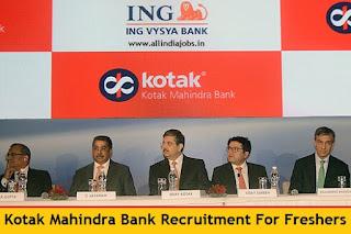Kotak Mahindra Bank Recruitment