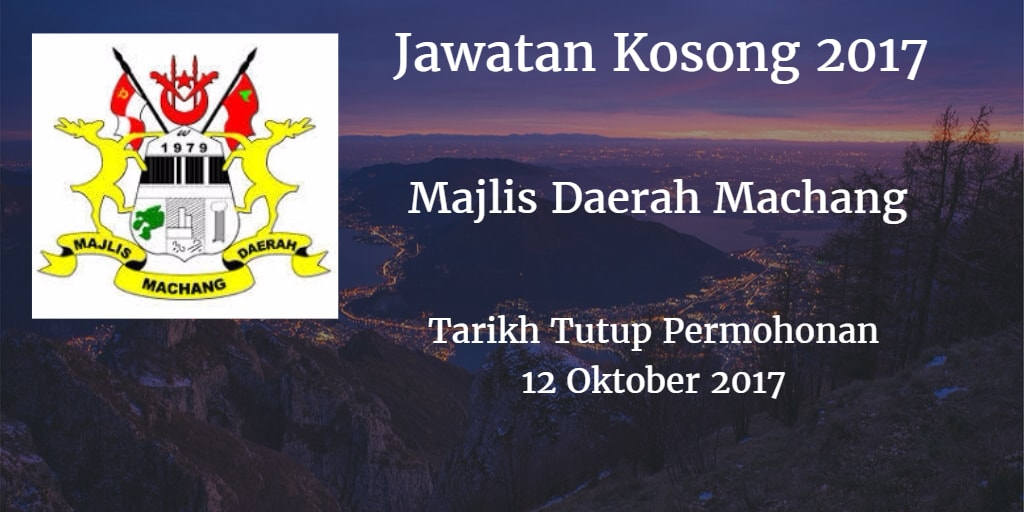 Jawatan Kosong MdMachang 12 Oktober 2017
