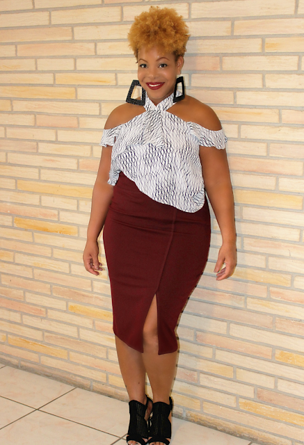 Tiered Top Pencil Skirt