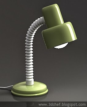 free 3d model study lamp