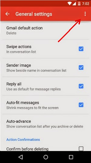 how to clear gmail cache android