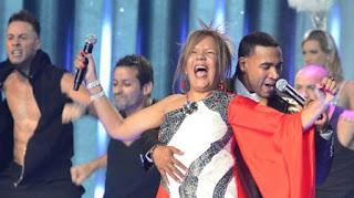 Loalwa Braz con Don Omar en la entrega de los premios Billboard Latinos en Miami en 2012