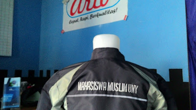 jaket forum muslim uny bahan taslan