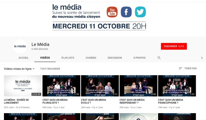 Les insoumis lancent leur propre chaîne internet - YouTube