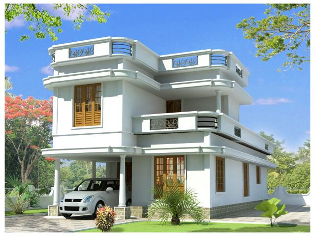 House front design pictures india house exterior designs for Normal house design in indian
