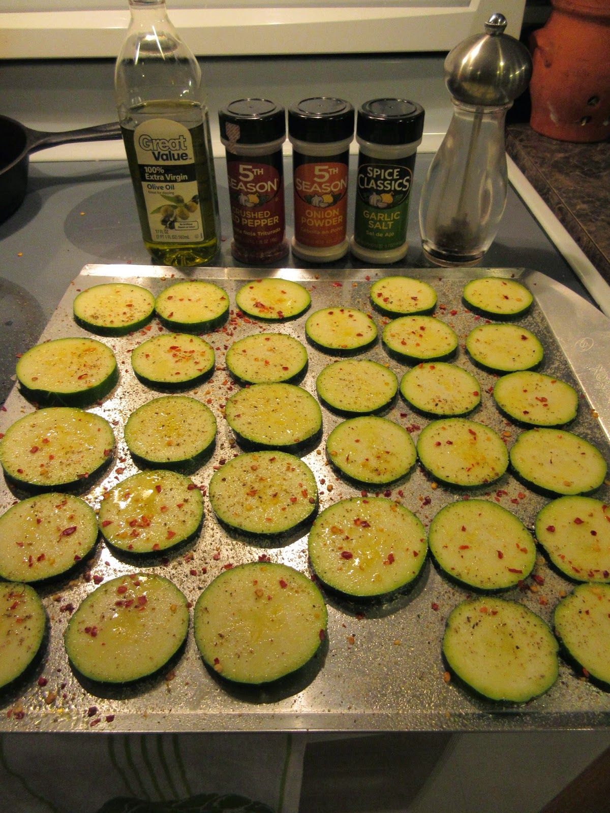 lil Piece of Hart: Crispy Baked Zucchini Chips