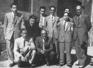 Algunos integrantes del equipo del Club Ajedrez Manresa en 1946