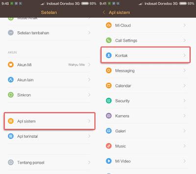 Menyimpan Nomor di Kartu SIM pada Ponsel Xiaomi