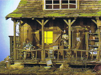 dollhouse miniature hillbilly cabin