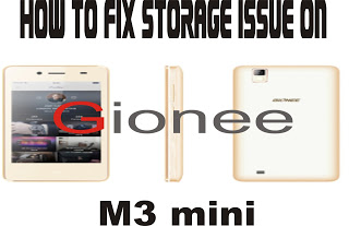 Gionee m3 storage problem solution