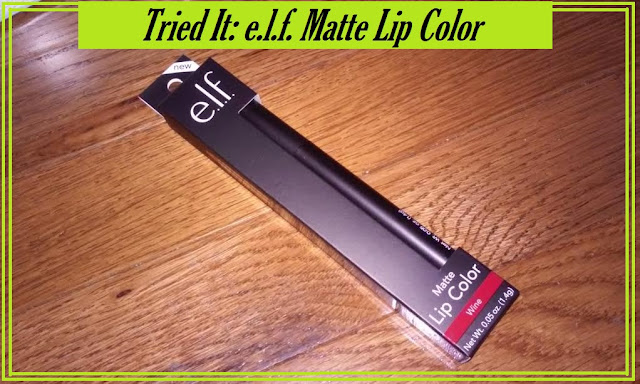 New Lipstick!!!! I tried the e.l.f. Matte Lip Color (Wine)   Beauty