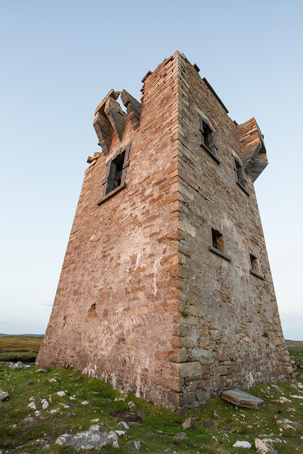A different angle of Glen Head Tower