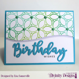 Divinity Designs Stamp/Die Duos: Birthday, Custom Dies: Pierced Rectangles, Leafy Edged Borders, Mixed Media Stencils: Petals
