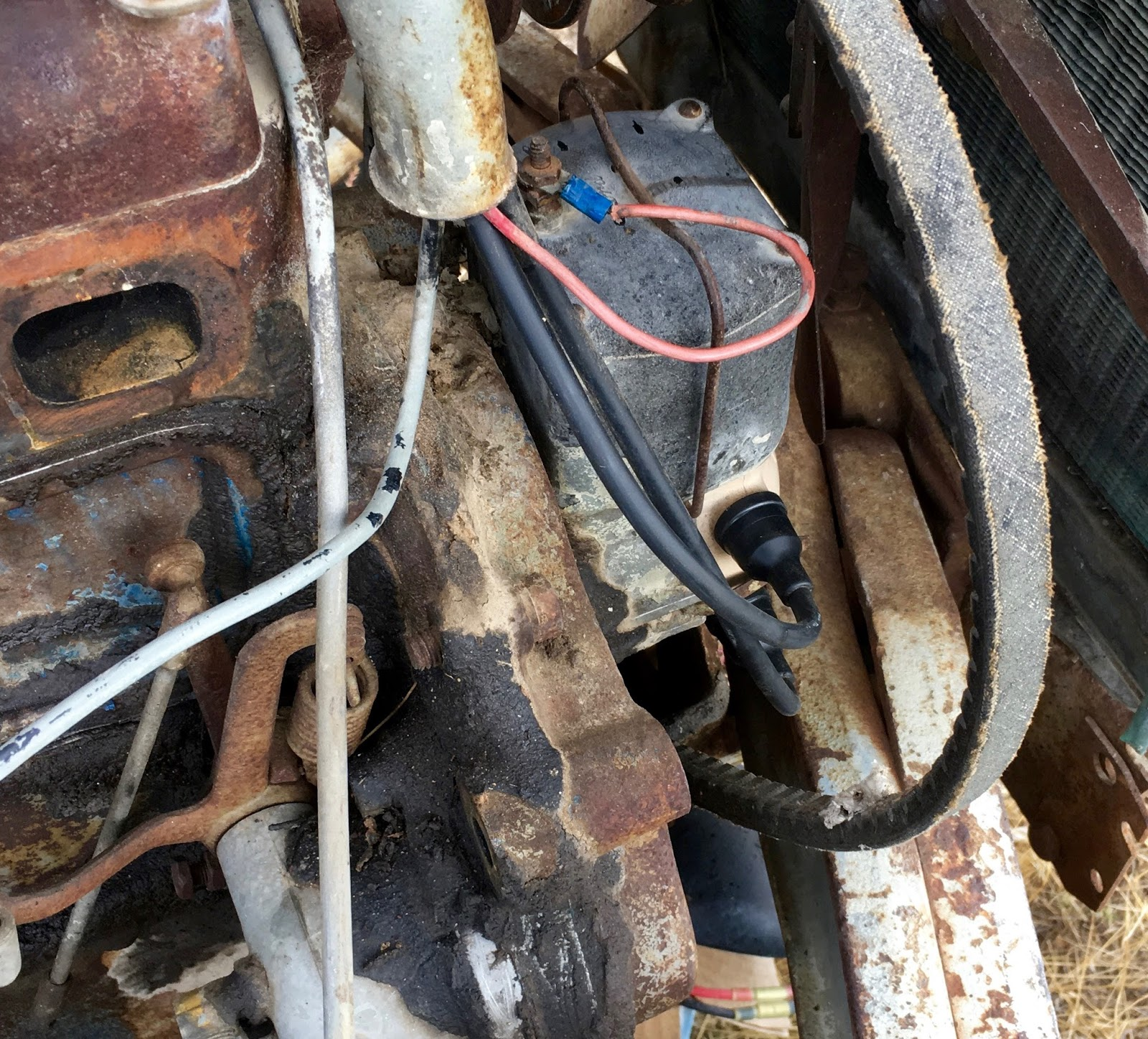 Syonyks Project Blog 1939 Ford 9n Repair Work Electrical Distributor You Should Have Four Brand New Plug Wires All Nicely Routed To The Through Tube