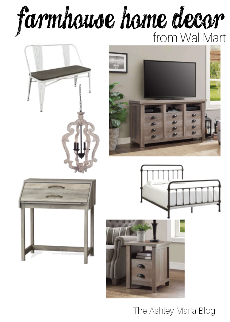 The Ashley Maria Blog Favorite Farmhouse Home Decor From Wal Mart